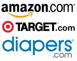 Amazon, Target, Diapers.com