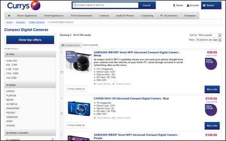 Currys Category Page
