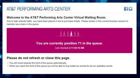 """Ticket ordering """"queue"""" page"""