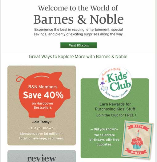 Barnes &  Noble Confirmation Email