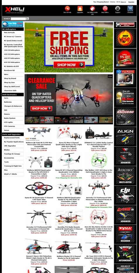 XHeli Landing Page