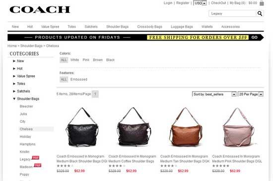 Untrustworthy Designer Handbags site