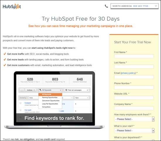HubSpot website