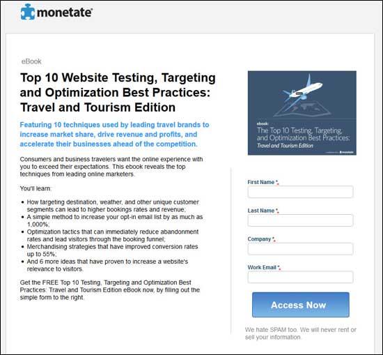 Monetate Website