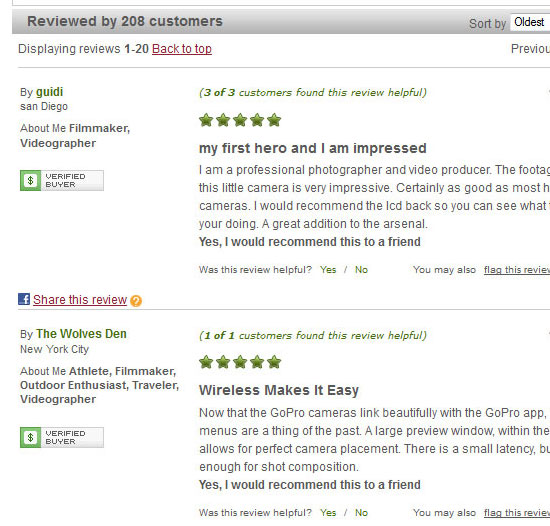 Producty Reviews From Authenticated Buyers
