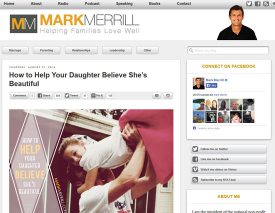 Merrill blog with Facepile