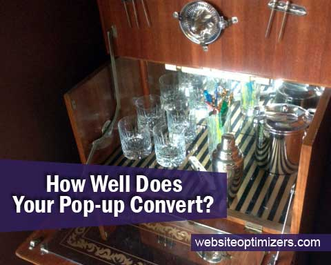 How Well Does Your Pop-up Convert?