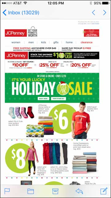 Email from JCPenney