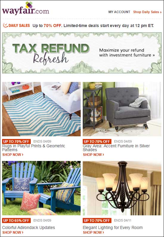 Wayfair Desktop Email